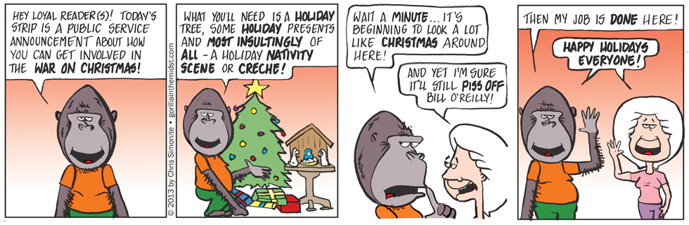 Gus Fires A Salvo In The War On Christmas